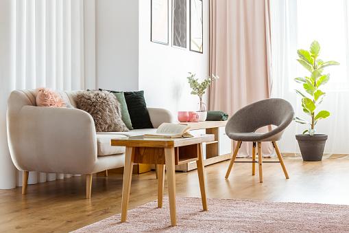 istock Feminine living room interior 934492496