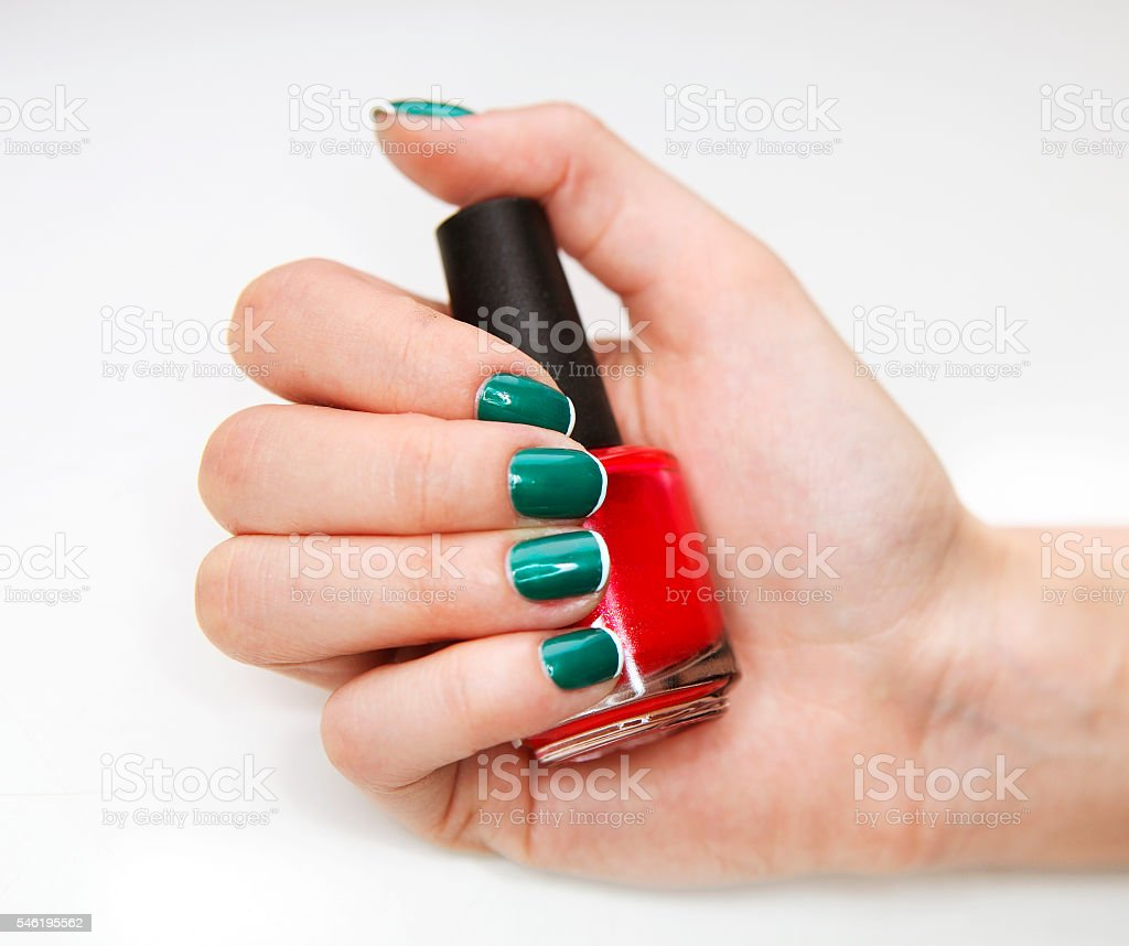 Manicure. Beauty treatment photo of nice manicured woman fingernails...