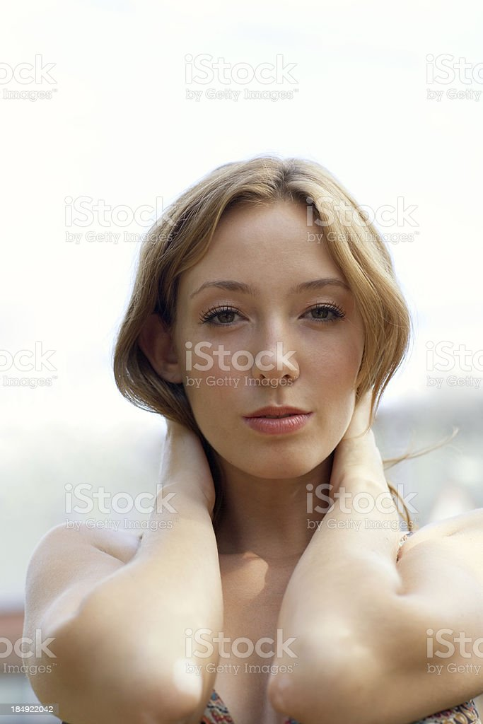 feminine portrait stock photo