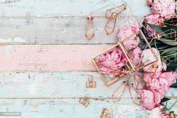 Shabby Chic Birthday Special Day Rose Borders Feminine Pink Card