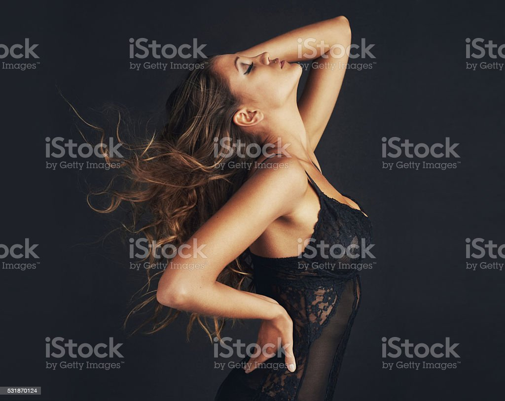 Femininity is the ultimate form of sophistication stock photo