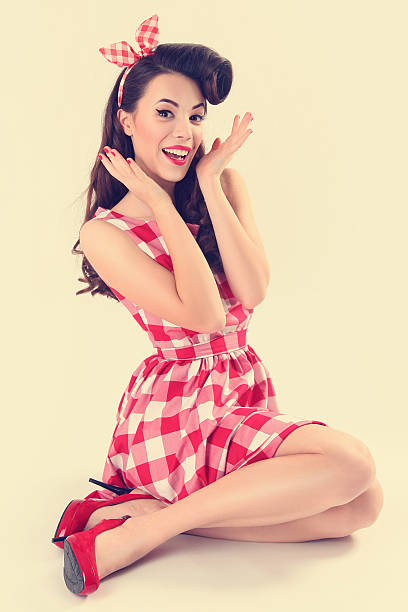 royalty free pin up girl pictures images and stock photos istock. Black Bedroom Furniture Sets. Home Design Ideas