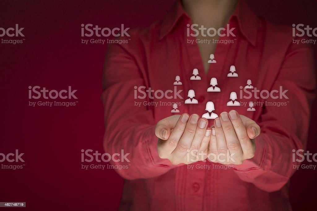 Feminism and female care stock photo