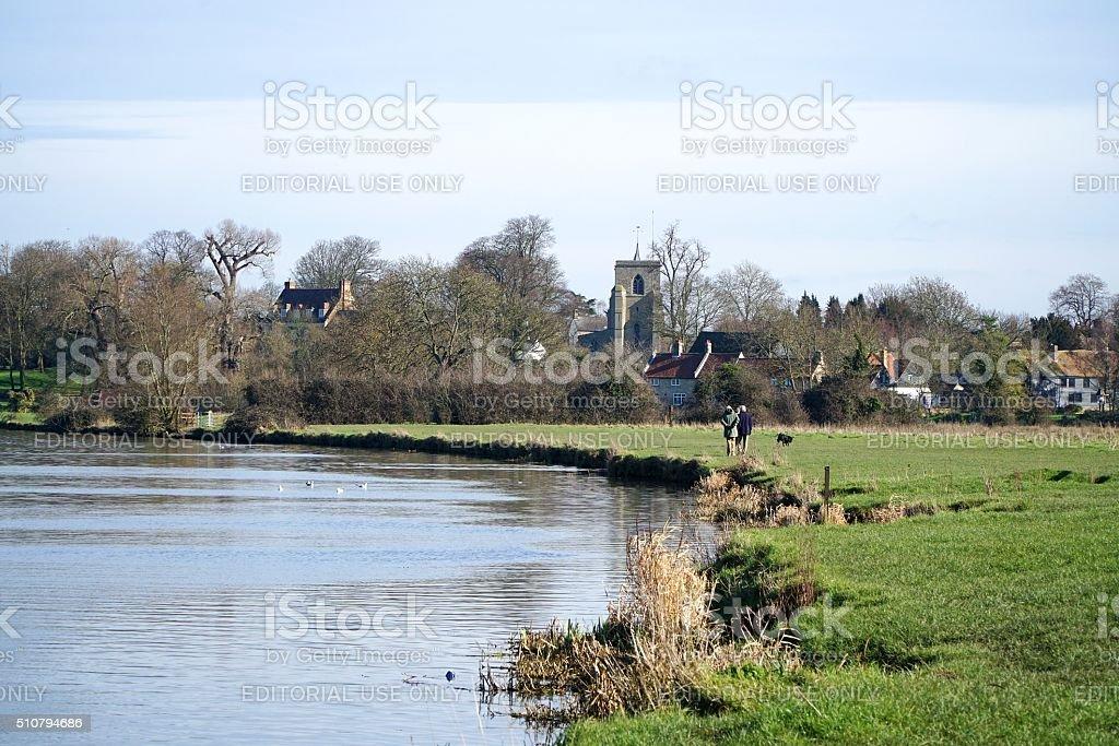 Fen Ditton, Cambridgeshire, Ditton Meadows stock photo