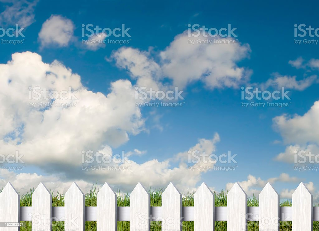 Fence and Sky royalty-free stock photo