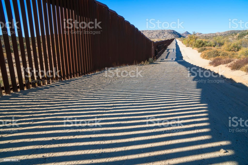 Fence at Jacumba stock photo