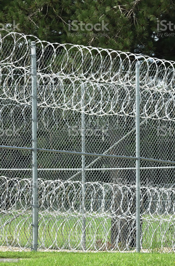 Fence at Prison royalty-free stock photo