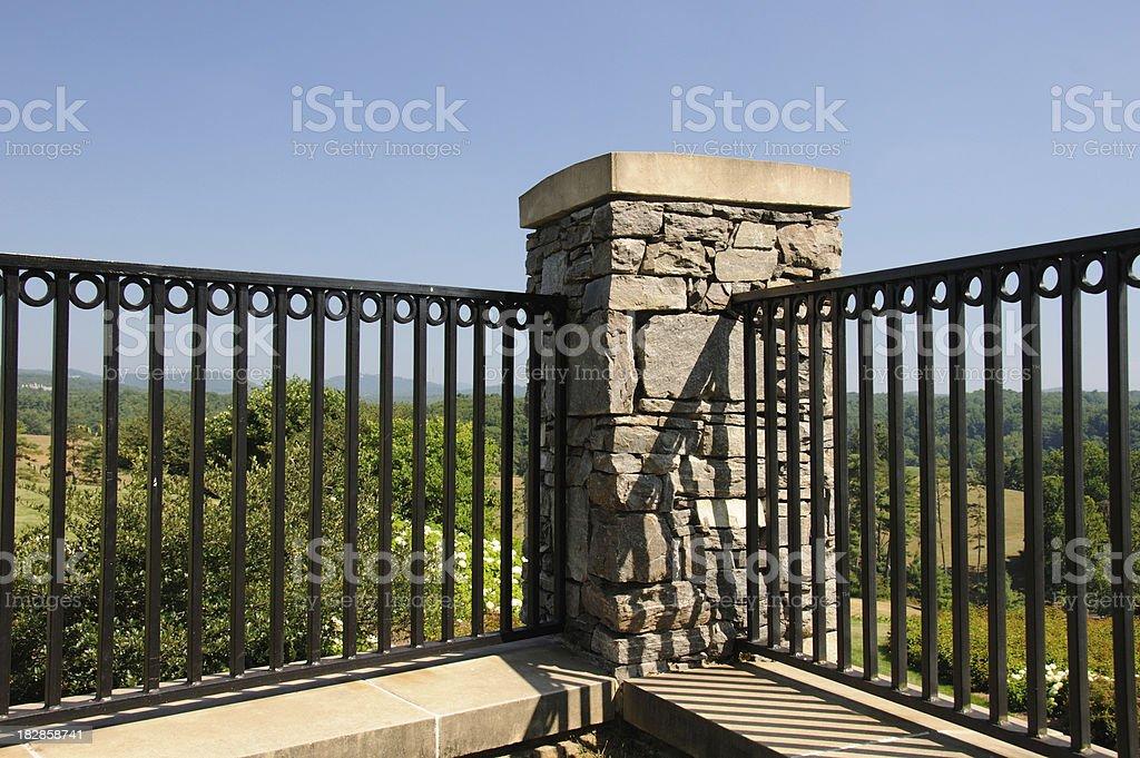 Fence Corner stock photo