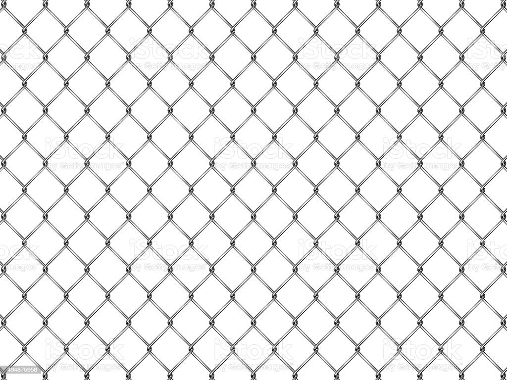 Fence from silver mesh stock photo