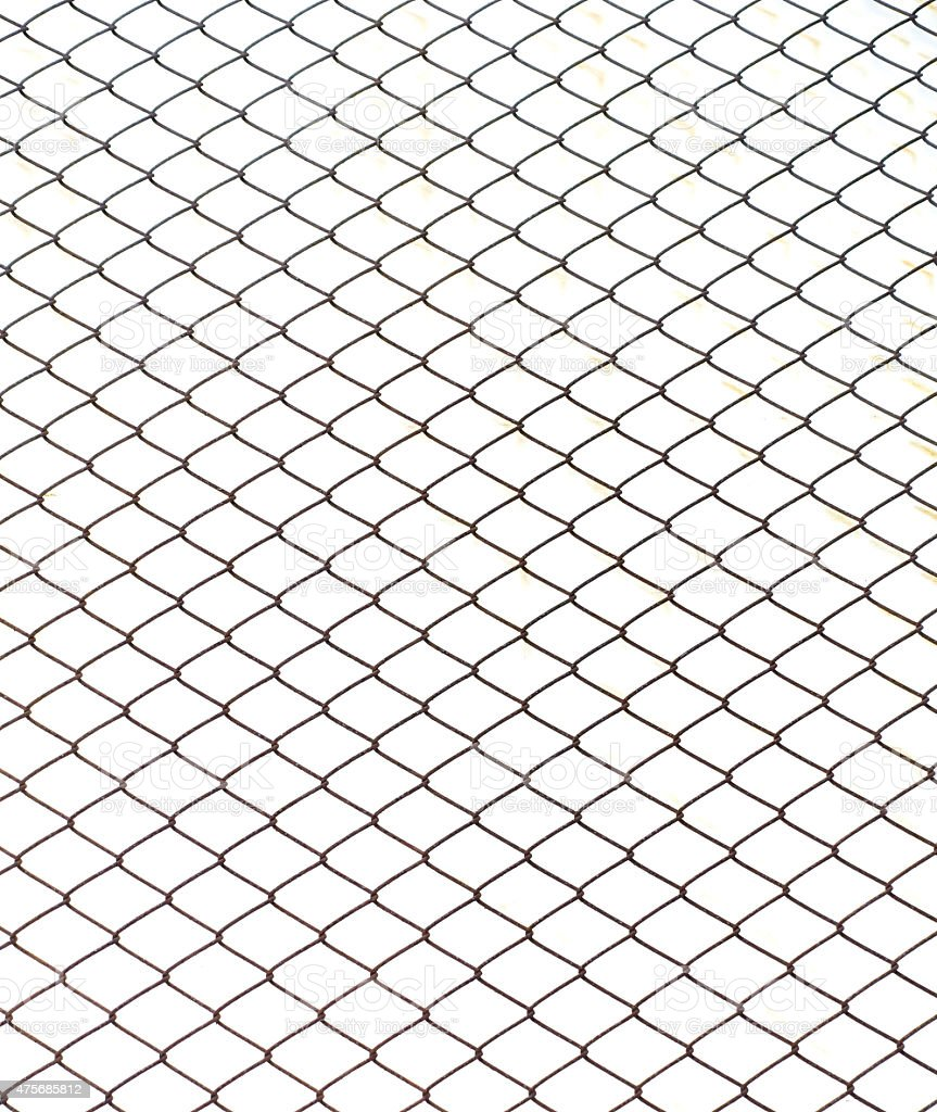 Fence from steel mesh stock photo