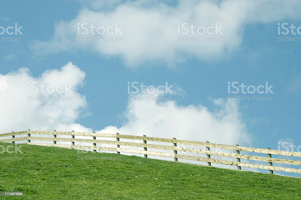 fence in the sky royalty-free stock photo