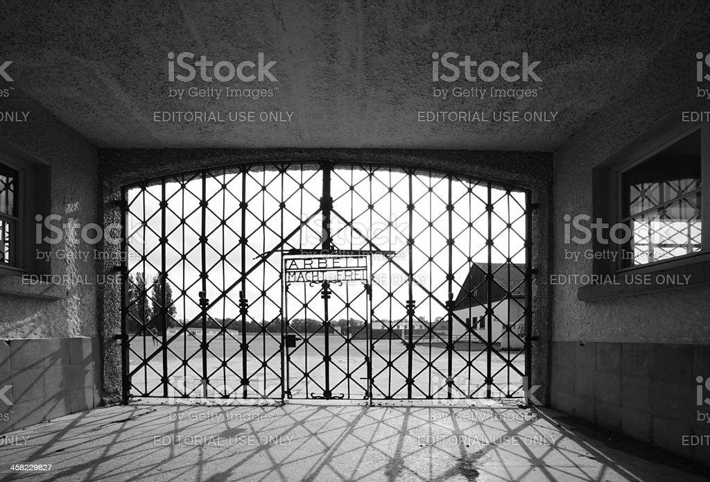 Zaun der Konzentrationslager Dachau – Foto