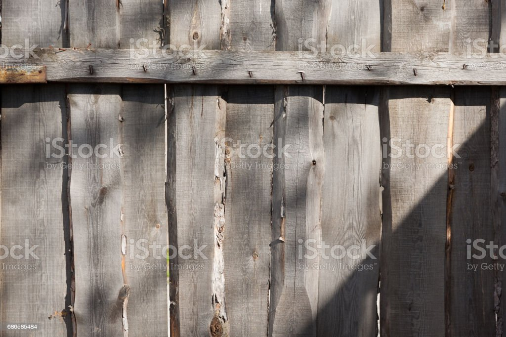 fence of old boards royalty-free stock photo