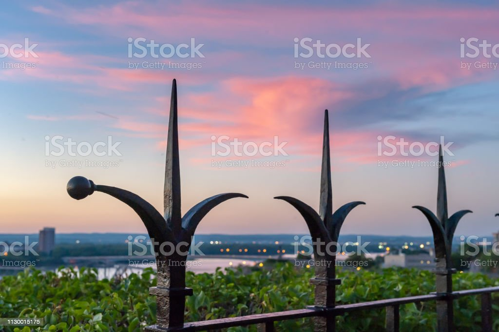 Fence of Parliament Hill, Ottawa,Canada stock photo