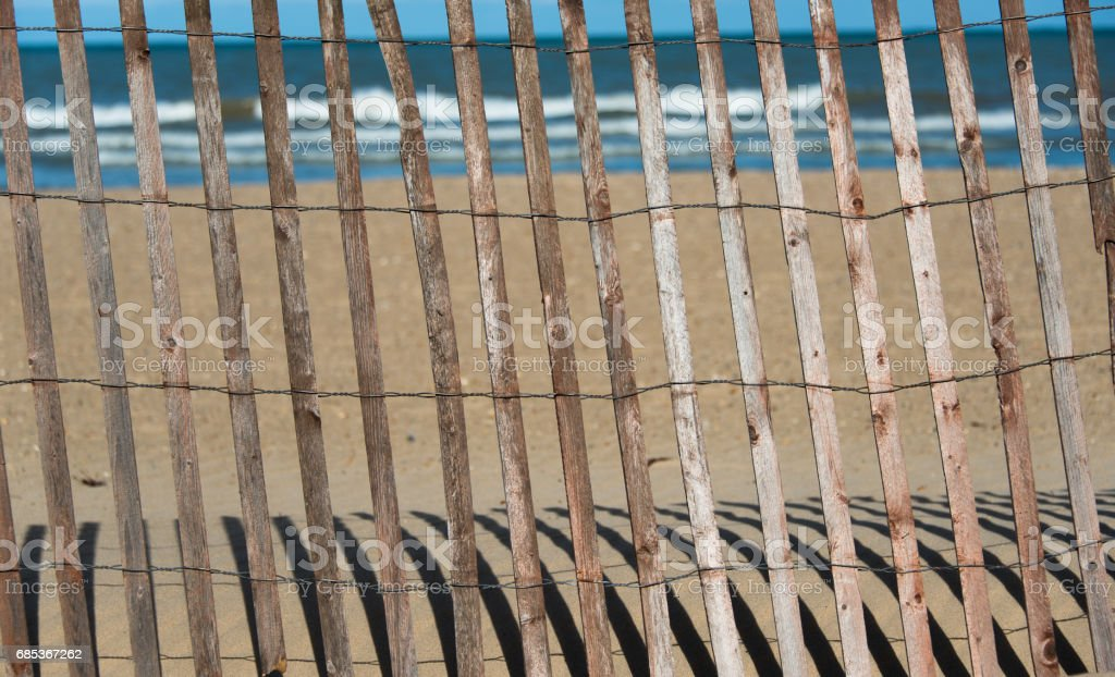 Fence on a beach texture foto de stock royalty-free