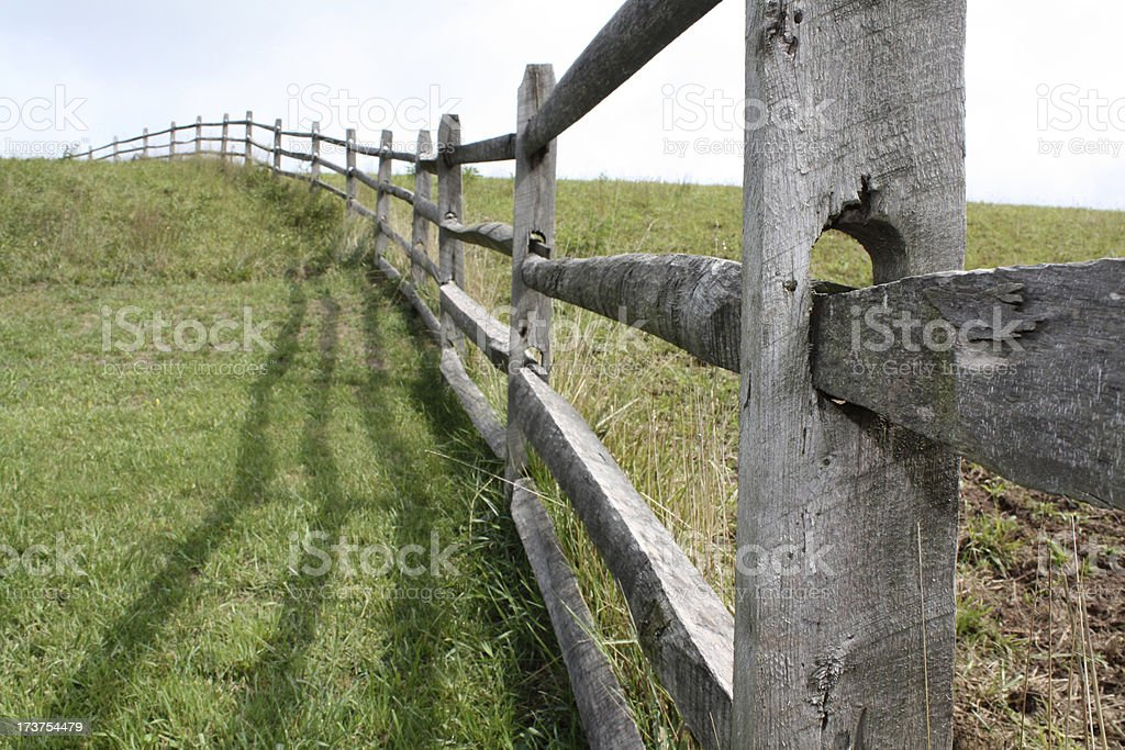 Fence On A Farm royalty-free stock photo