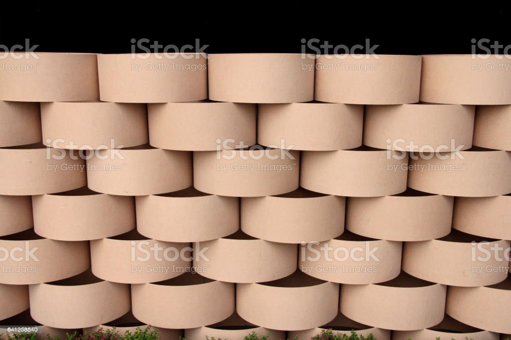 Fence or Wall with Medium Density Fiberboard or MDF Texture. stock photo