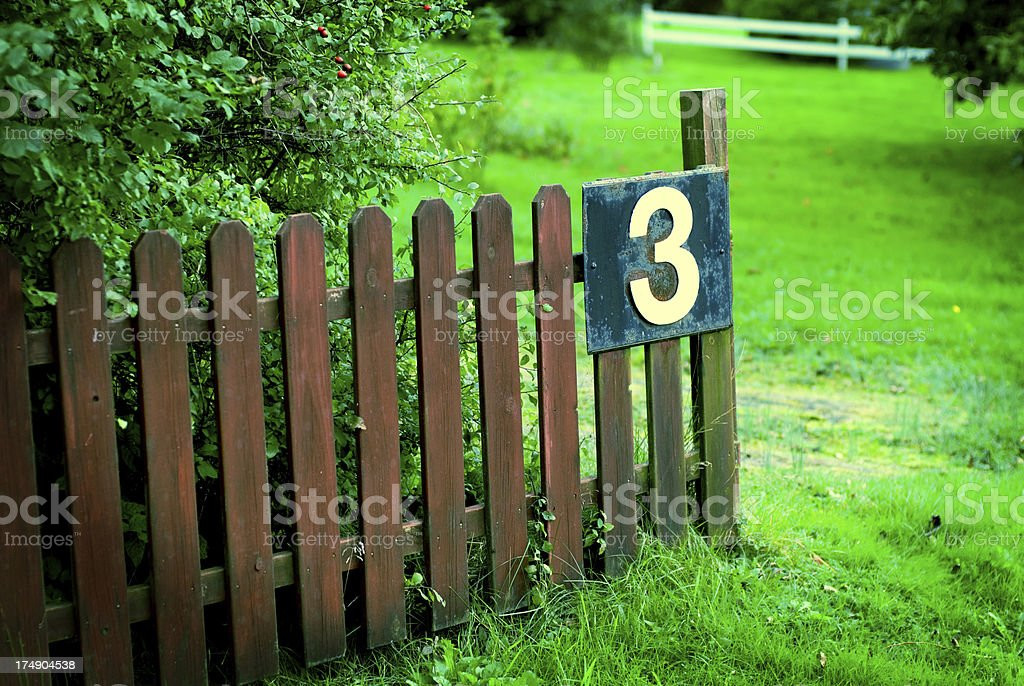 Fence (crossed) royalty-free stock photo