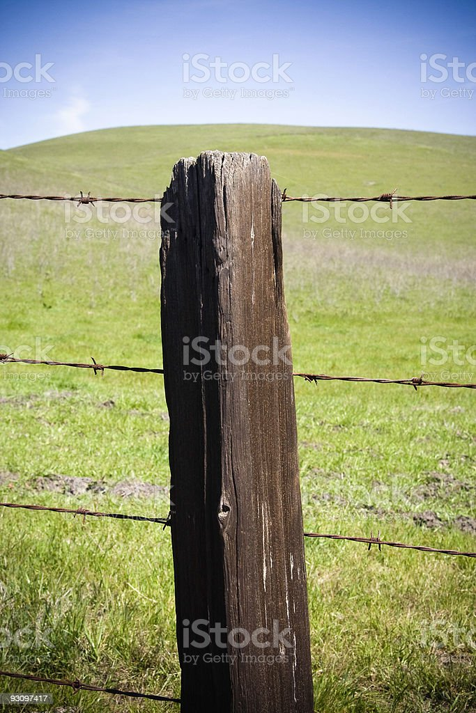 Fence Post Barbed Wire royalty-free stock photo