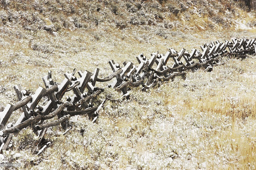 Fence Rail Post Ranch Landscape royalty-free stock photo