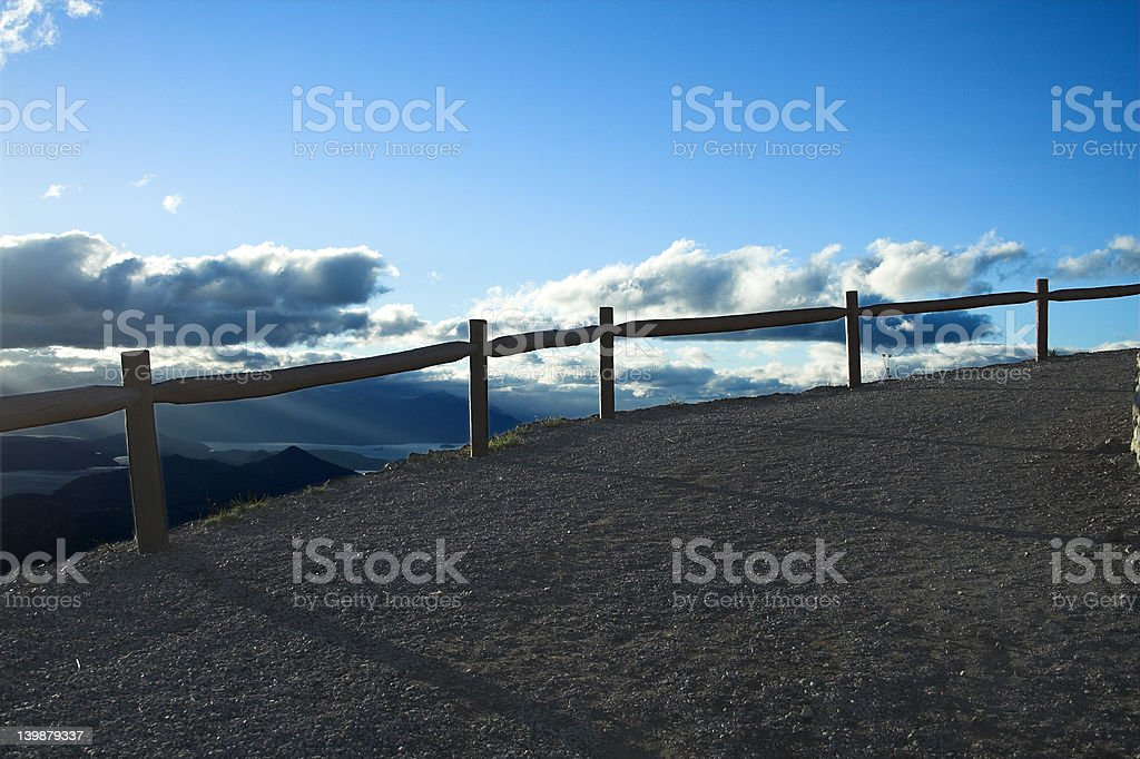 fence silhouette 2 royalty-free stock photo