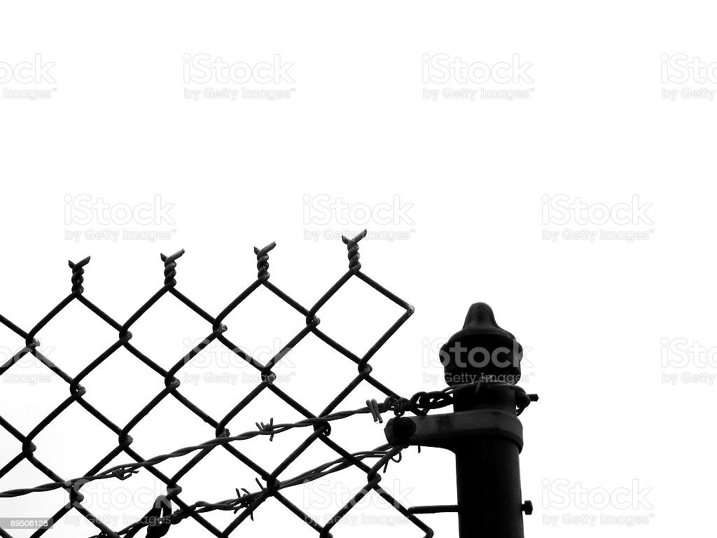 Fence Silhouette royalty-free stock photo