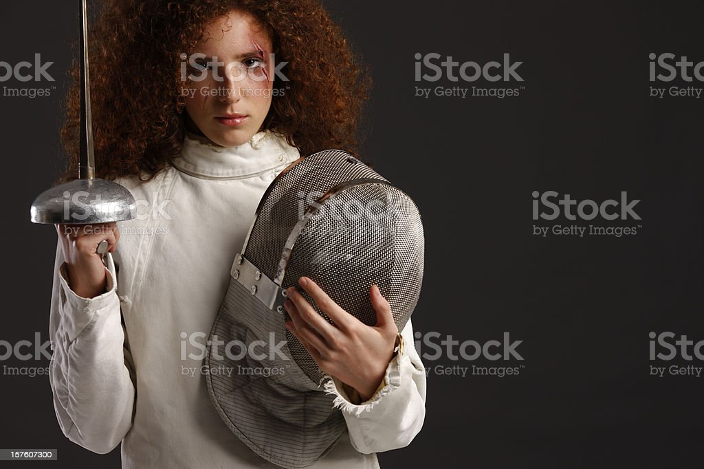 Fencer royalty-free stock photo