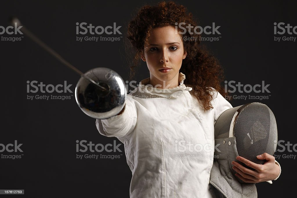 Fencer royalty-free stock photo