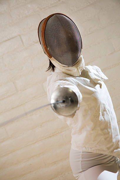 Fencer stock photo