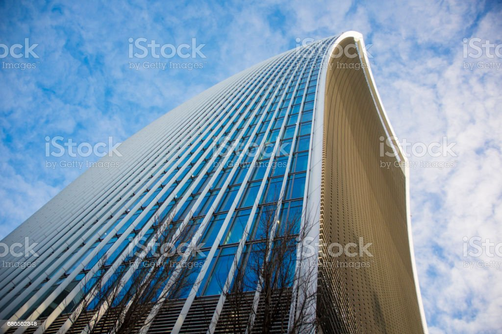 20, Fenchurch Street also known as the Walkie Talkie royalty-free stock photo