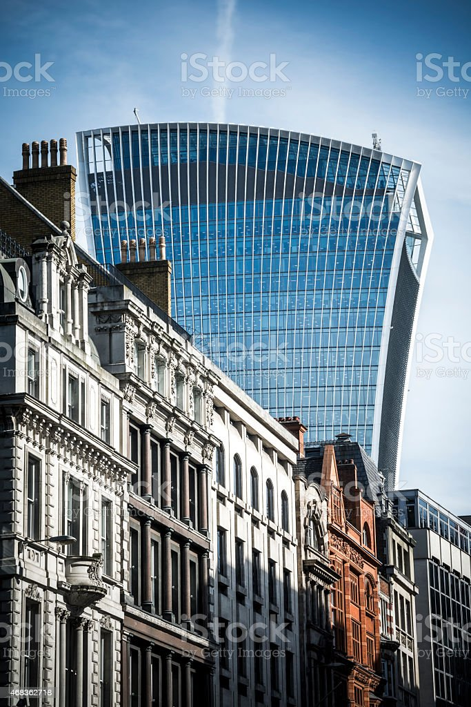 Fenchurch Street London royalty-free stock photo