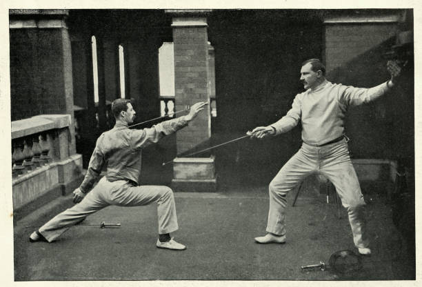 Fencing masters of the 1st Life Guards, 19th Century stock photo