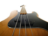 Los Angeles, California, USA - August 21, 2009:  Editorial photo of a vintage Fender Precision electric bass guitar.