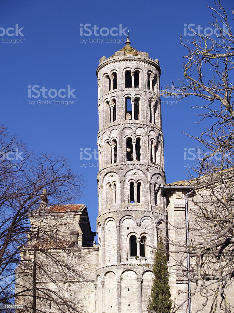 Fenestrelle Tower, Saint-Theodorit Cathedral, Uzes, Gard, France, royalty-free stock photo