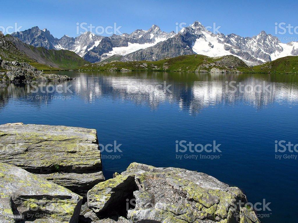 Fenetre Lakes 06, European Alps royalty-free stock photo