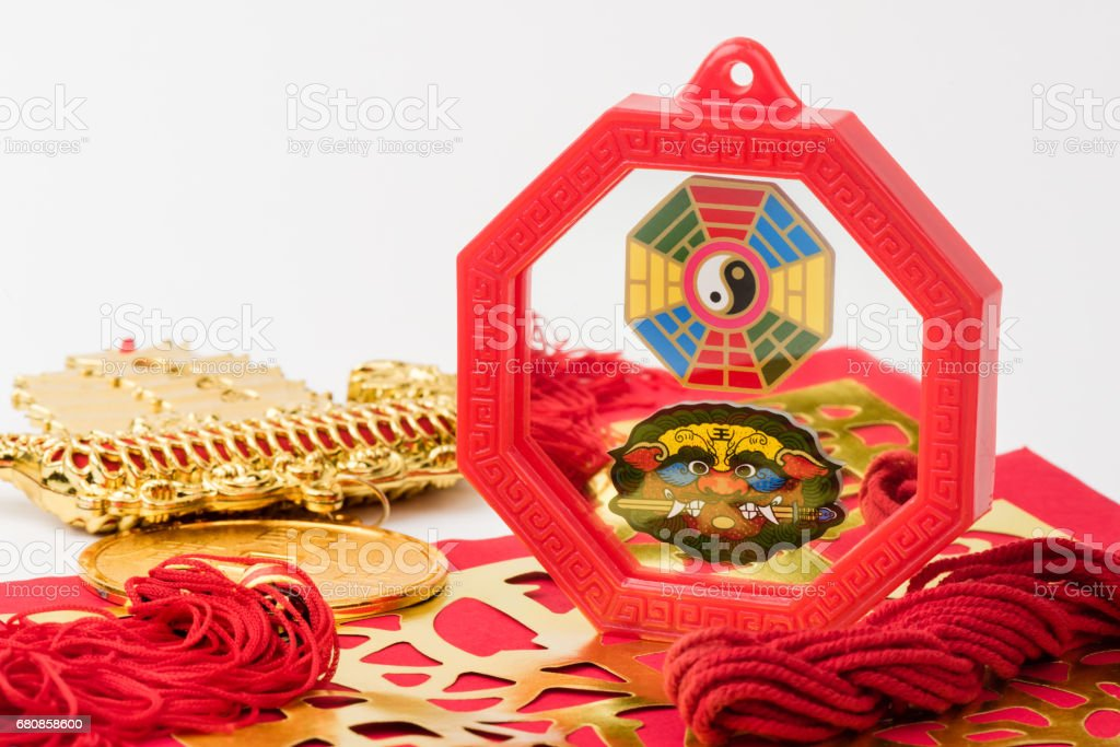 Feng Shui Bagua Mirror stock photo