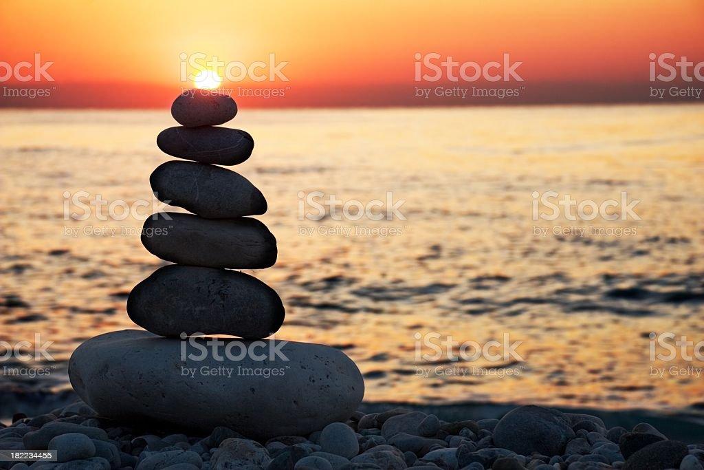 Feng-Shui-balance. Tagesanbruch – Foto