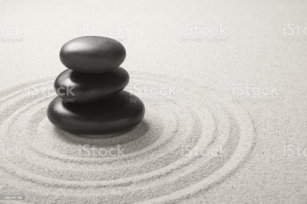 Feng Shui Pebbles royalty-free stock photo