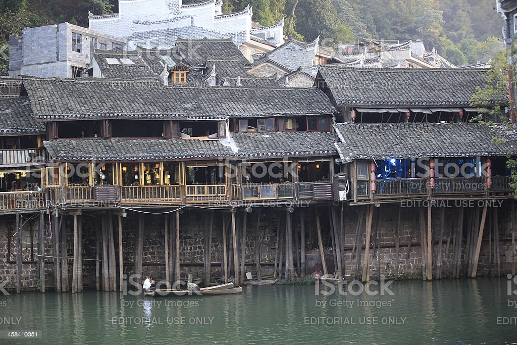 fenghuang ancient town,china royalty-free stock photo