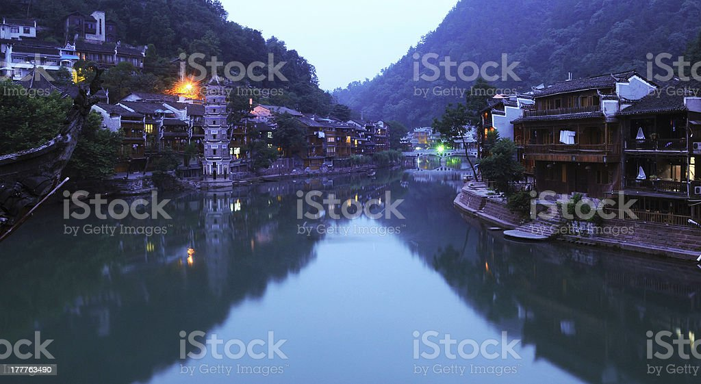 Fenghuang by nigh royalty-free stock photo