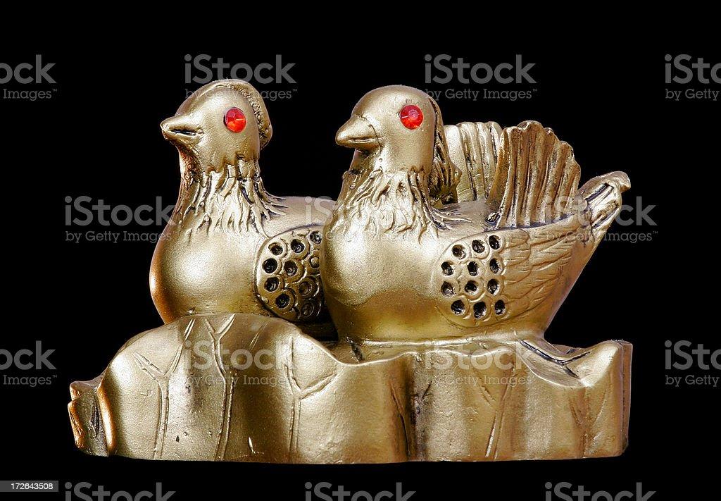 Feng-shui series - Mandarin ducks royalty-free stock photo