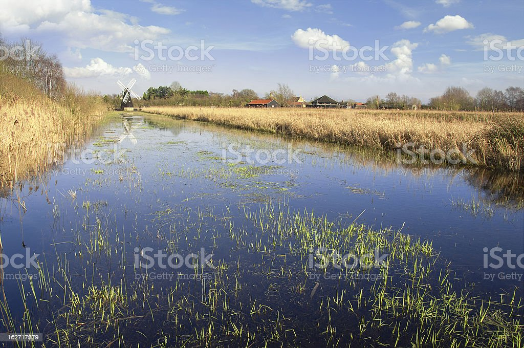 Fenland em Cambridgeshire, Inglaterra - foto de acervo