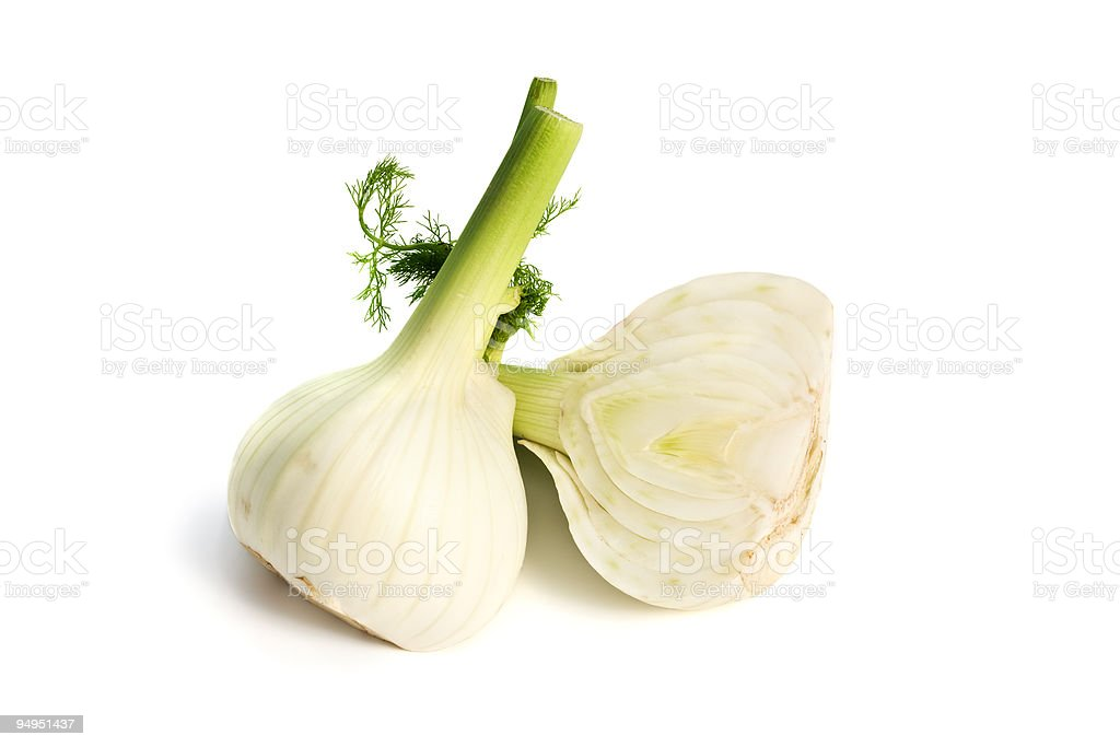 fennel bulbs isolated royalty-free stock photo
