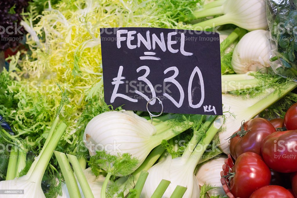 Fennel in Borough Market, London royalty-free stock photo