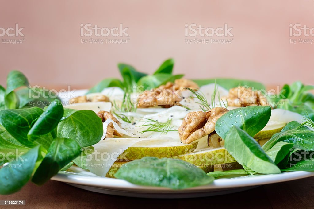 Fennel Pear Salad stock photo