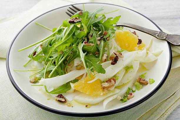 fennel salad with oranges slice stock photo