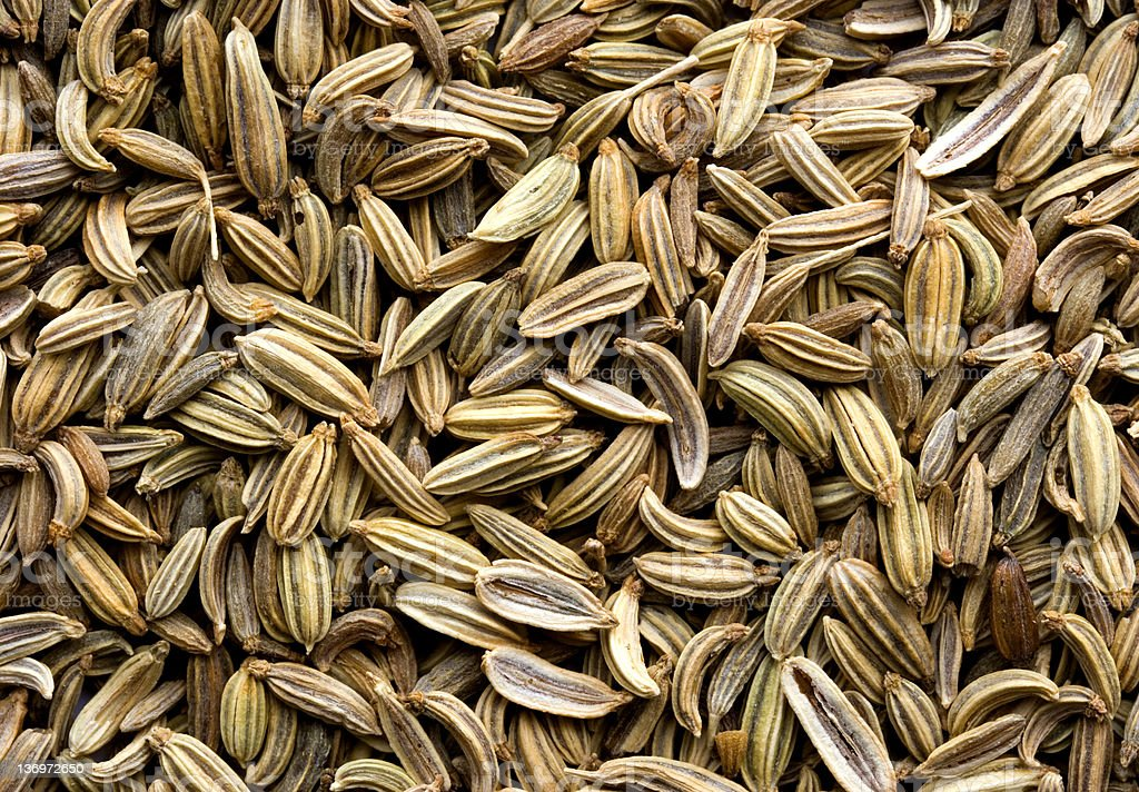 Fennel Seed Background royalty-free stock photo