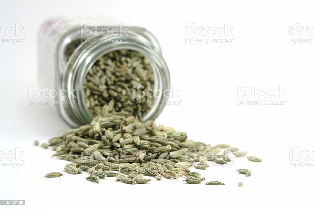 Fennel Seed Spills royalty-free stock photo