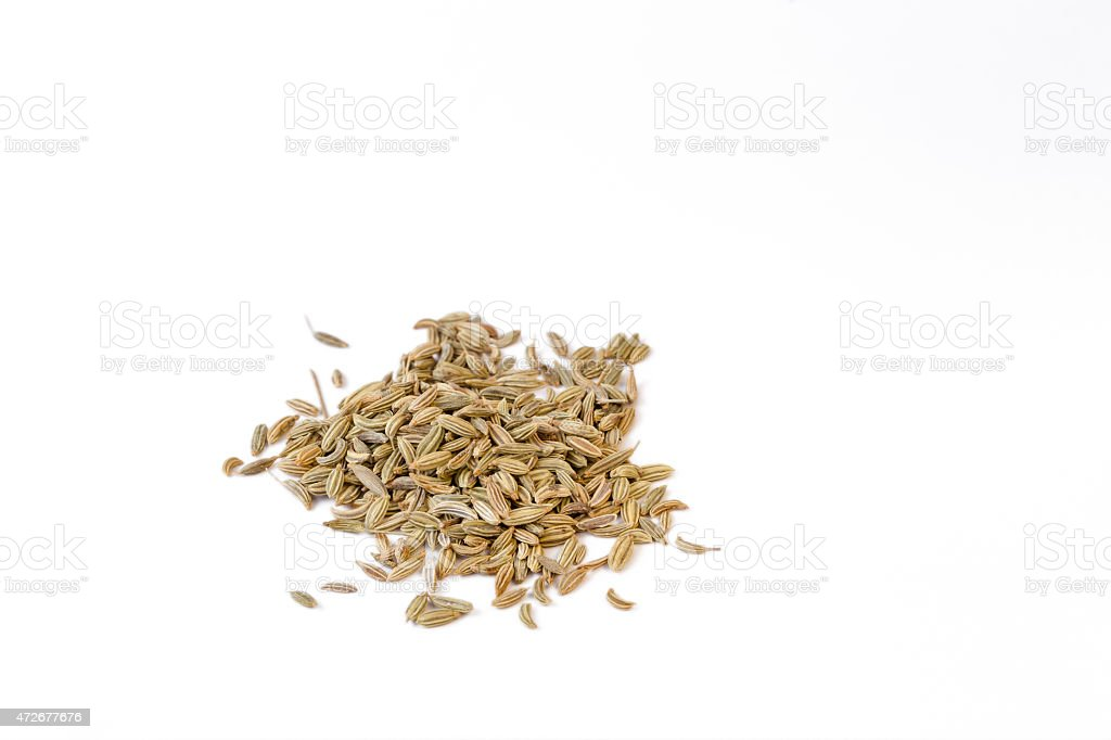 Fennel seeds stock photo