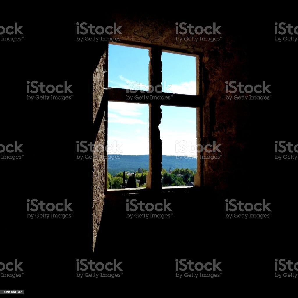 Fenêtre sur ciel - Photo de Architecture libre de droits